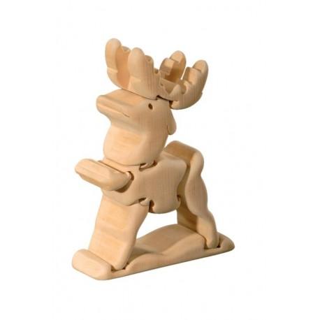 Educativo puzzle tridimensionale renna