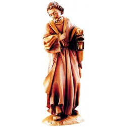 Saint Joseph  in Lindenwood hand carved - lightly colored with oil paint