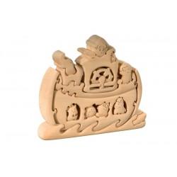 Arche Noah mit Tiere Holzpuzzle