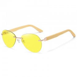 Sunglasses with wooden temples unisex