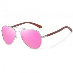 Sonnen Brille mit Holzbügel