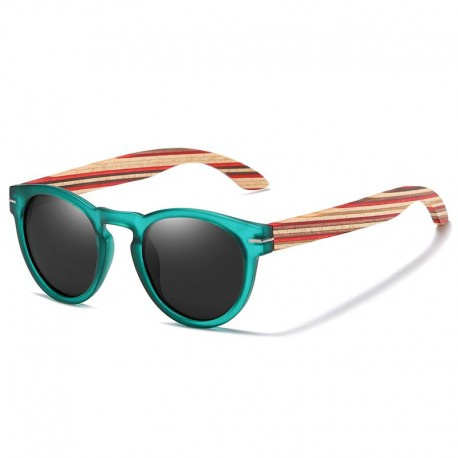 Sunglasses with Wood Temples