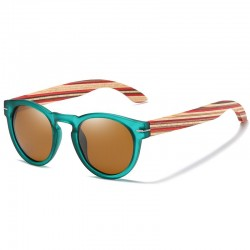 Sunglasses with Wooden Temples Unisex - Polarized Wooden Sunglasses Wholesale - Made in Italy