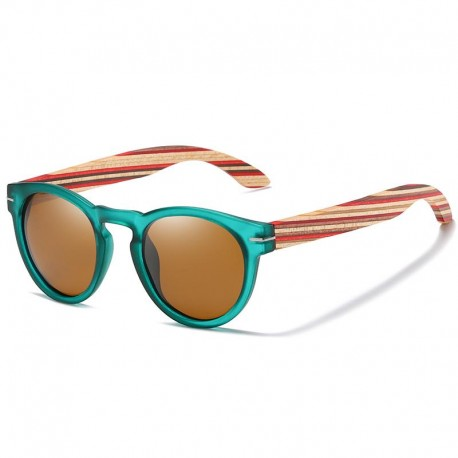 Sun Glasses with Wooden Temples