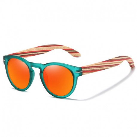Sunglasses with Wooden Temples Unisex - Polarized - Dolfi Walnut Wooden Sunglasses - Made in Italy