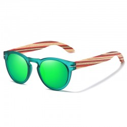 Sunglasses with Wooden Temples Unisex - Polarized - Dolfi wood Look Sunglasses - Made in Italy