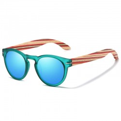 Sunglasses with Wooden Temples Unisex - Polarized personalized Wooden Sunglasses - Made in Italy