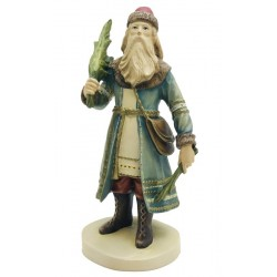 Santa Claus in Russian Style from the American History carved in maple wood for Collectors - Dolfi
