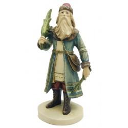 Weihnachtsmann aus Ahornholz geschnitzt - Dolfi Weihnachtsmann Holzstamm, Grödner Holzschnitzereien
