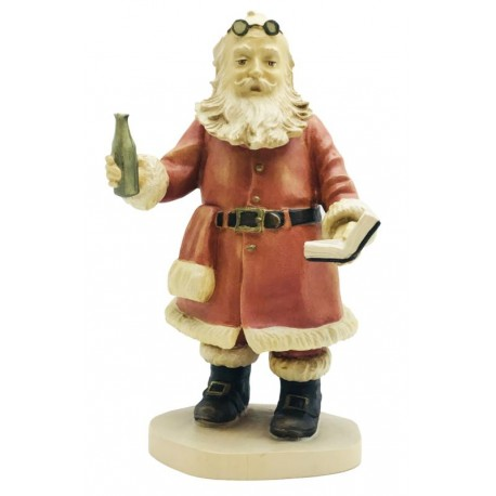 Collectible Santa Claus - Statue in maple wood - Named Soda Pope of the American History - Dolfi