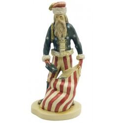 Holzfigur der Weihnachtsmann - Civil War