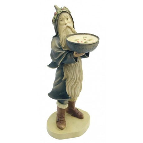 Collectible Santa Claus Figure carved in maple wood and Hand Painted for Collectors - Made in Italy