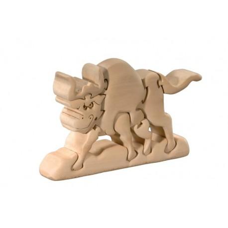 Educativo puzzle tridimensionale bufalo