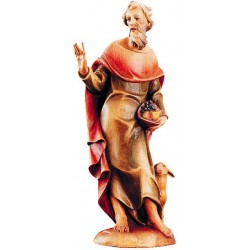 Shepherd with Sheep - Dolfi Large Olive wood Nativity Figures - Made in Italy - oil colors