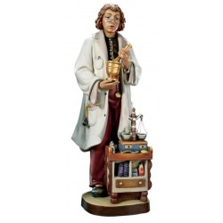 Pharmacist carved in maple wood and - lightly colored with oil paint