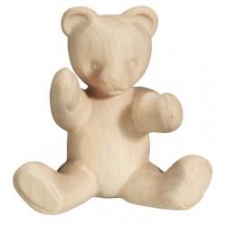 Sitting Teddy Bear in wood