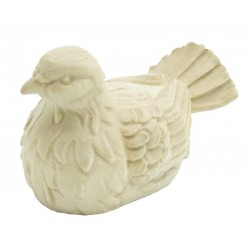Dove carved in maple wood - natural