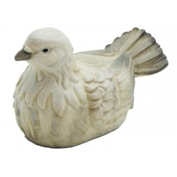 Dove carved in maple wood - color