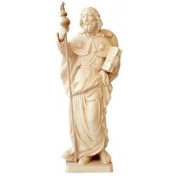 Saint James of Compostela Wooden Sculpture - Dolfi Catholic Statue to Sell House - Made in Italy - natural