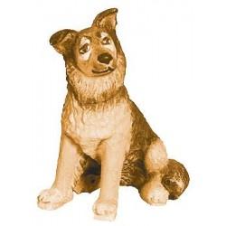 Schäferhund aus Ahornholz geschnitzt, diese Holzschnitzerei ist eine wichtige Südtiroler Holzfigur - Brauntöne lasiert