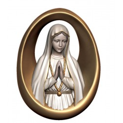 Relief Madonna of Fatima in wood - color