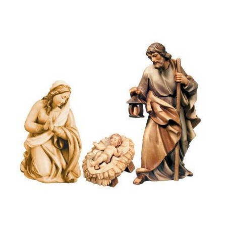 Holy Family wood carved - stained 3 col.