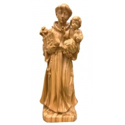 Saint Anthony of Padova Statue in maple wood carved Vintage Religious Statues - Made in Italy - olive