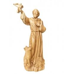 Heiliger Franziskus von Assisi aus Holz - Olive