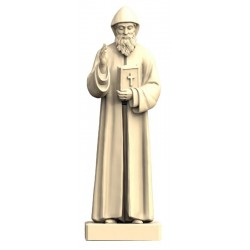 Saint Charbel in wood - natural