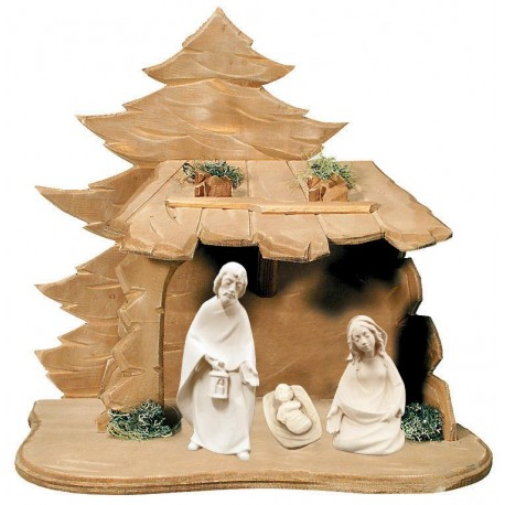 Holy Family with Stable - natural