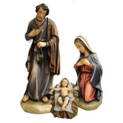 Heilige Familie aus Fiberglas und Kunstharz in Südtirol hergestellt, Original Grödner Schnitzereien - Ölfarben lasiert