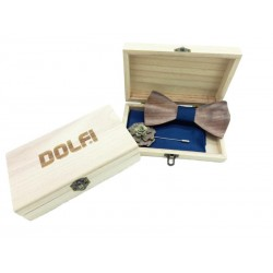Set Papillon in wood in blue colour