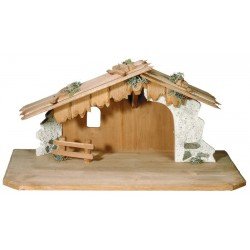 """Stable """"Matteo"""" for wood carved Figures of the Nativity Scene Sets Olive wood Nativity Stable"""