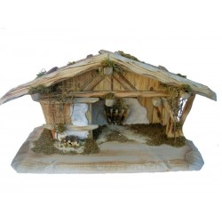 Stable with Name Bulaccia Like the Dolomite Mountains Olive wood Nativity Figures - Made in Italy