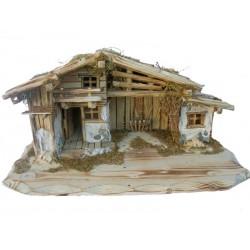 """Krippenstall """" Piciuel"""", die Krippe bezieht sich auf die Größe der stehenden Figuren für Holz Krippe"""