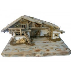 "Wooden Stable ""Fermeda"" for nativity set"
