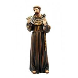 Heiliger Franziskus von Assisi aus Kunststoff, Holzmaße und Kunstharz gefertigt, Schnitzer Gröden