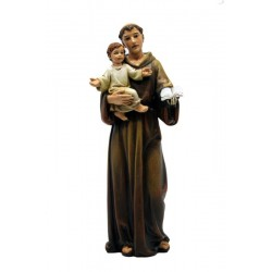 Saint Anthony of Padova statue mad in poly paste of wood made in Val gardena Italy