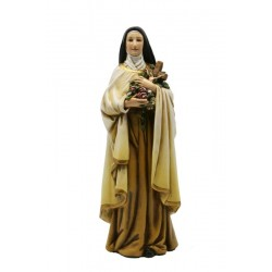 Saint  theresa of Lisieux in Paste of wood - Dolfi Mexican Religious Statues - Made in Italy