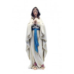 Our Lady of Lourdes in paste of wood and polyresin