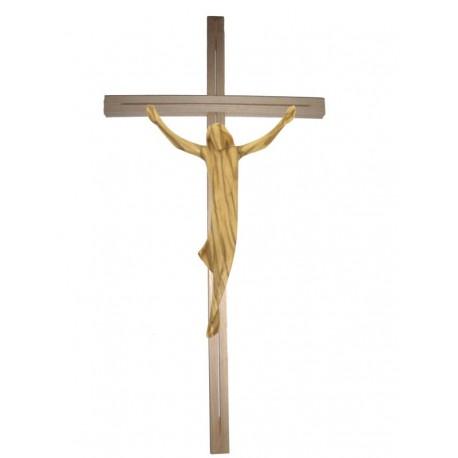 Corpo di Cristo su croce dritta in legno - ulivo