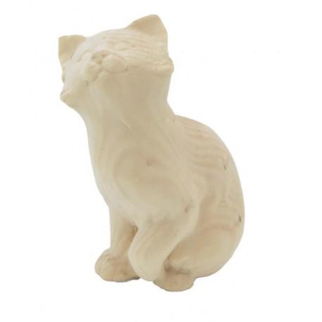 Gattino seduto in legno cirmolo