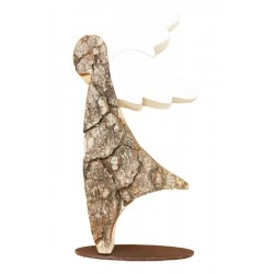 2,5 inch tiny carved wooden angel