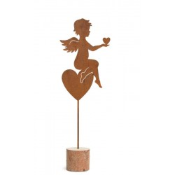 Ornamental love angel in wrought iron