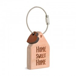 Wooden Keyring Home sweet home