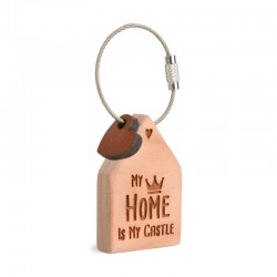 Wooden Keyring My home is my castle
