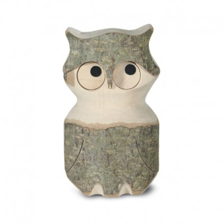 Wooden Owl 4 inches