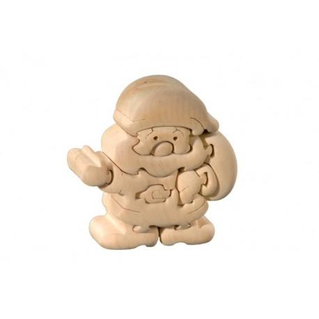 Santa Claus - 3D puzzle wood carved