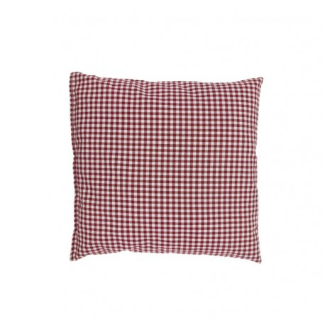 Checkered cushion filled with pine shavings
