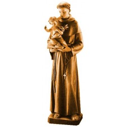 Saint Anthony with Child and lily wood carved - stained 3 col.
